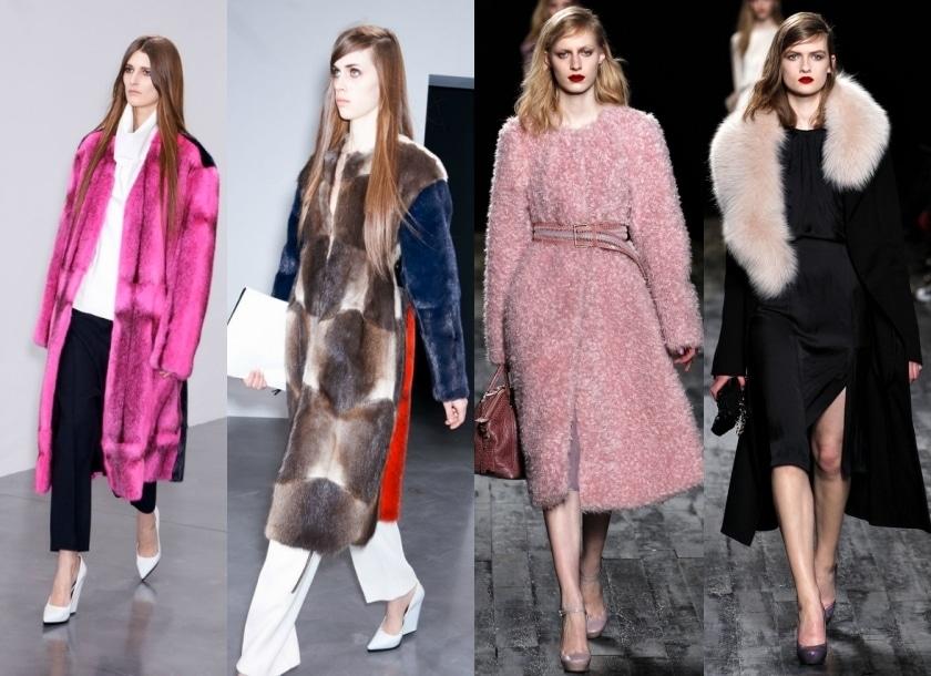 Des manteaux fourrures pour l'hiver 2013